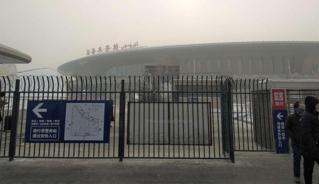 Het Urumqi treinstation